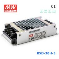 RSD-30H-5 30W 40~160V输入 5V 6A 输出铁道专用明纬DC-DC转换电源