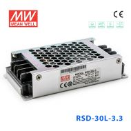 RSD-30L-3.3 30W 18~72V输入 3.3V 6A 输出铁道专用明纬DC-DC转换电源