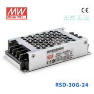 RSD-30G-24 30W 9~36V输入 24V 1.25A 输出铁道专用明纬DC-DC转换电源