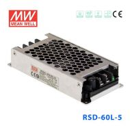 RSD-60L-5  60W 18~72V输入 5V 12A 输出铁道专用明纬DC-DC转换电源