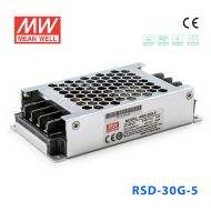 RSD-30G-5 30W 9~36V输入 5V 6A 输出铁道专用明纬DC-DC转换电源