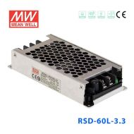 RSD-60L-3.3  39.6W 18~72V输入 3.3V 12A 输出铁道专用明纬DC-DC转换电源