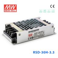 RSD-30H-3.3 30W 40~160V输入 3.3V 6A 输出铁道专用明纬DC-DC转换电源